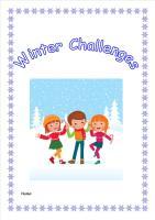 Winter Weather Activity Pack/Homework Booklet for KS2