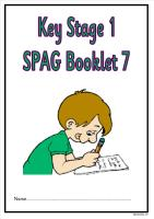 SPAG activity booklet 7 for KS1 children