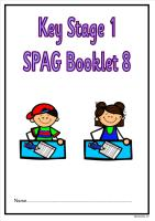 SPAG activity booklet 8 for KS1 children