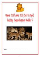 KS1/LKS2 SATs style reading comprehension booklet (2).