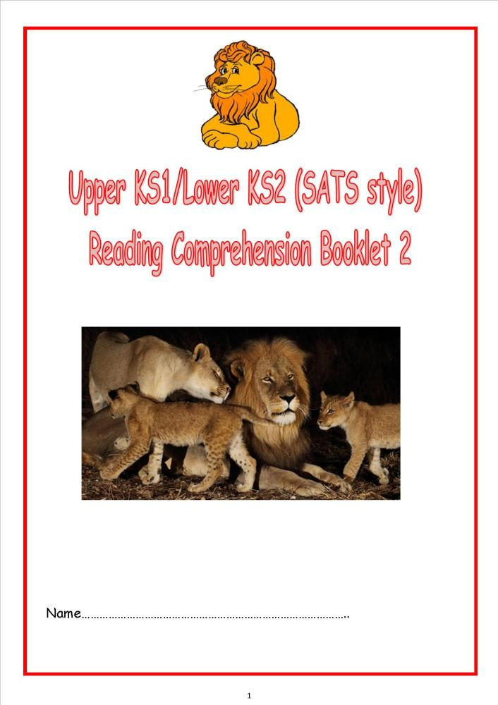 New KS1/LKS2 SATs style reading comprehension booklet.