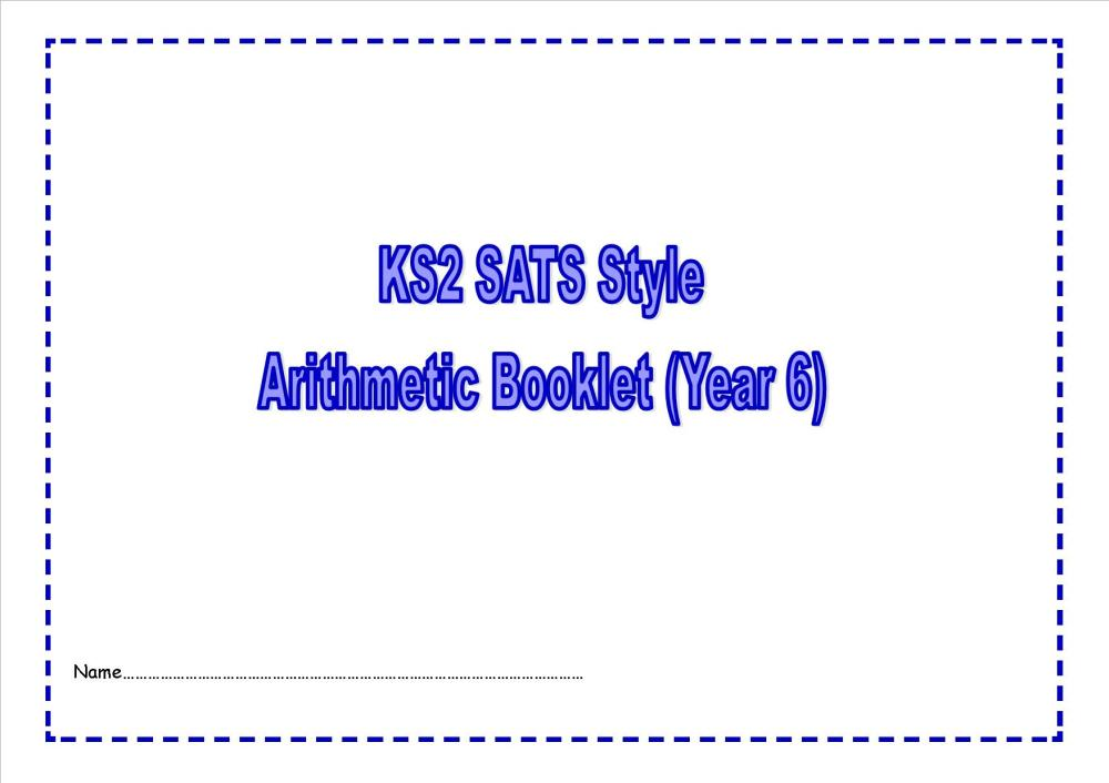 New Year 6 SATs style arithmetic booklet1