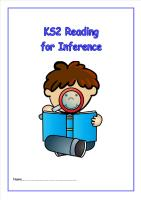 KS2 Reading for Inference Booklet