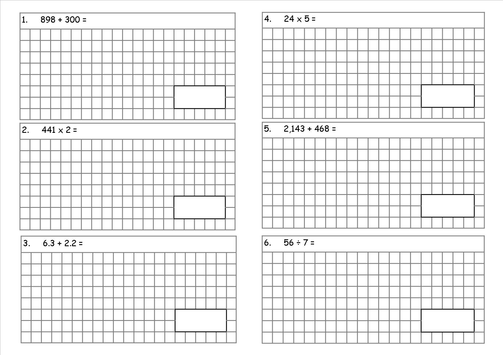 KS2, Year 6 SATs style arithmetic test (a teaching ...