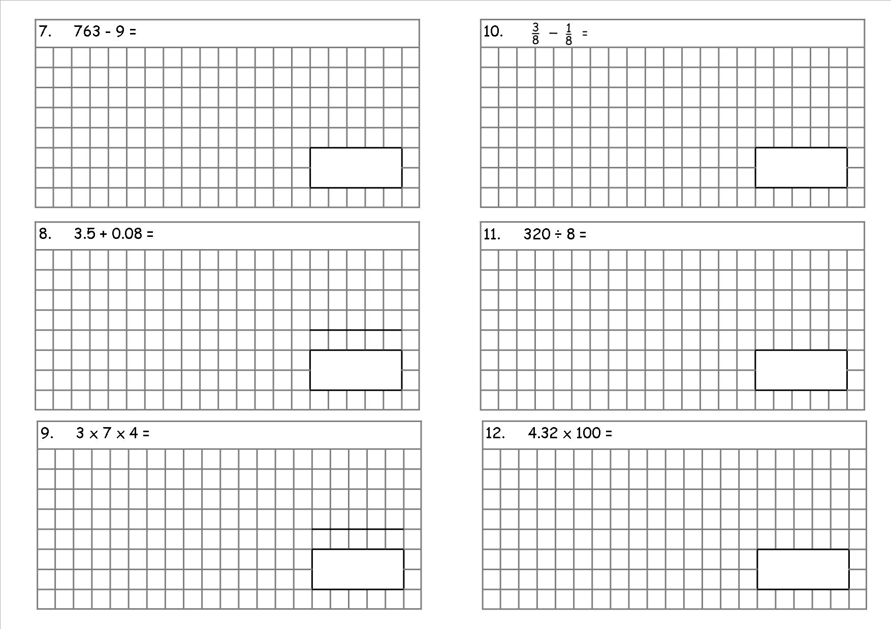 Worksheets For Year 6 Sats - K5 Learning Worksheets