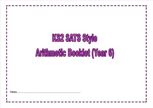 New Year 6 SATs style arithmetic booklet2