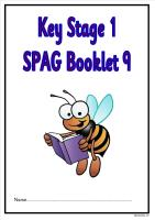 SPAG activity booklet 9 for KS1 children