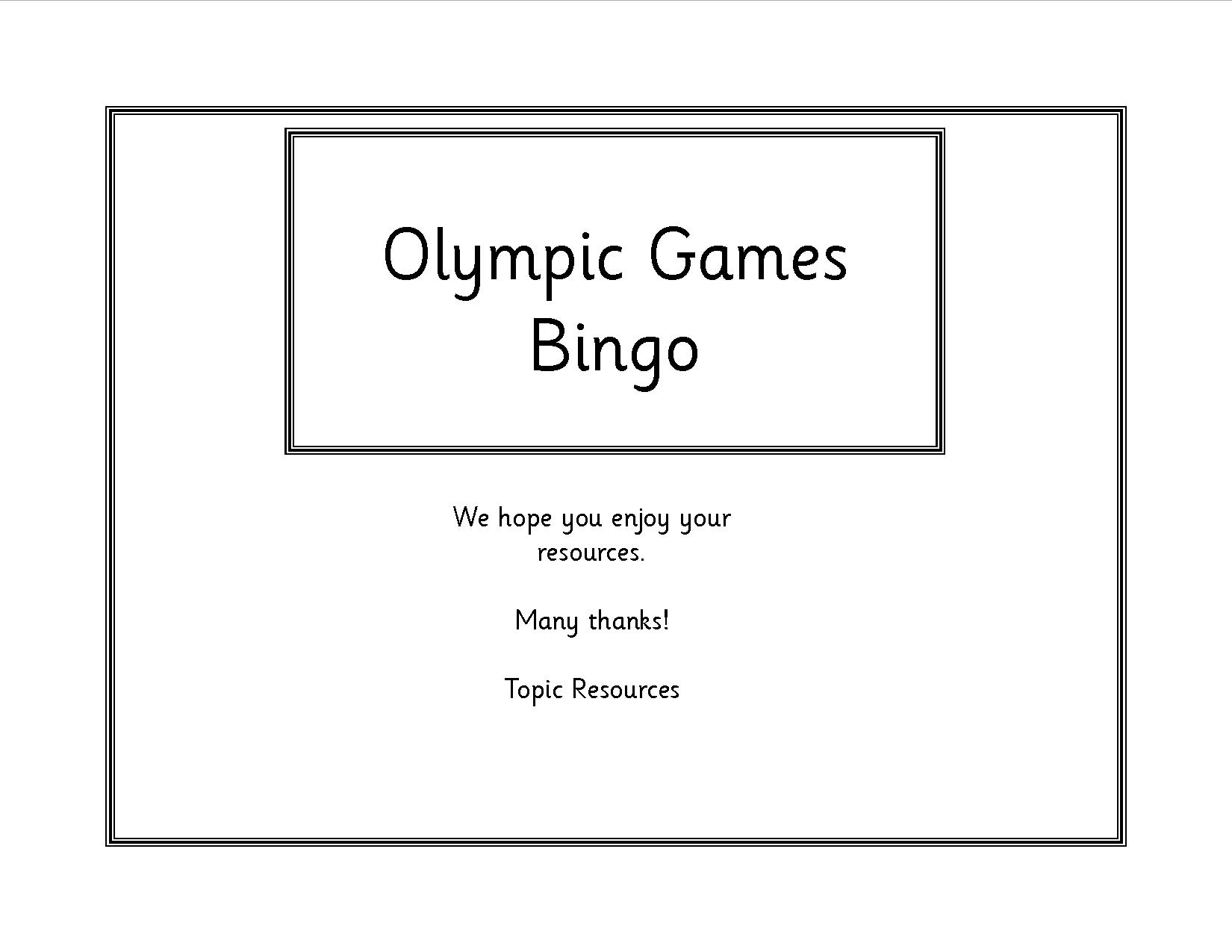 EYFS, KS1, SEN, Olympic Games 2016 resources, teaching