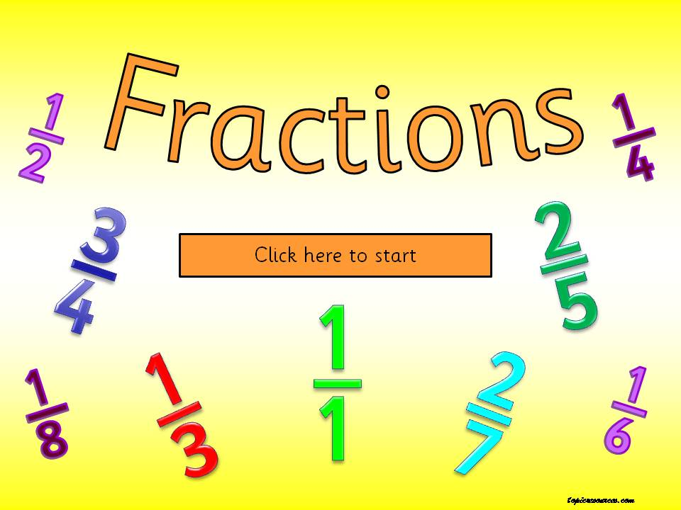 EYFS KS1 SEN fractions numeracy powerpoint games worksheets – Sen Maths Worksheets