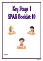 SPAG activity booklet 10 for KS1 children