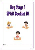 SPAG activity booklet 10 for KS1 children