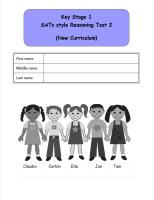 KS1, Year 2, SATs style Reasoning practice papers 2 (New Curriculum).