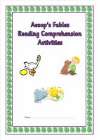 KS1/ Lower KS2 SATS style reading comprehension booklet based on Aesop's Fables.