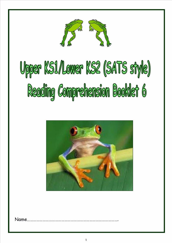 KS1 KS2 Literacy SATs Reading Prehension Fiction