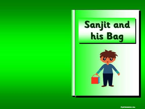 Sanjit and his bag story pack (based around the ideas of Pie Corbett on tal