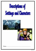 NEW! Settings and Characters Booklet