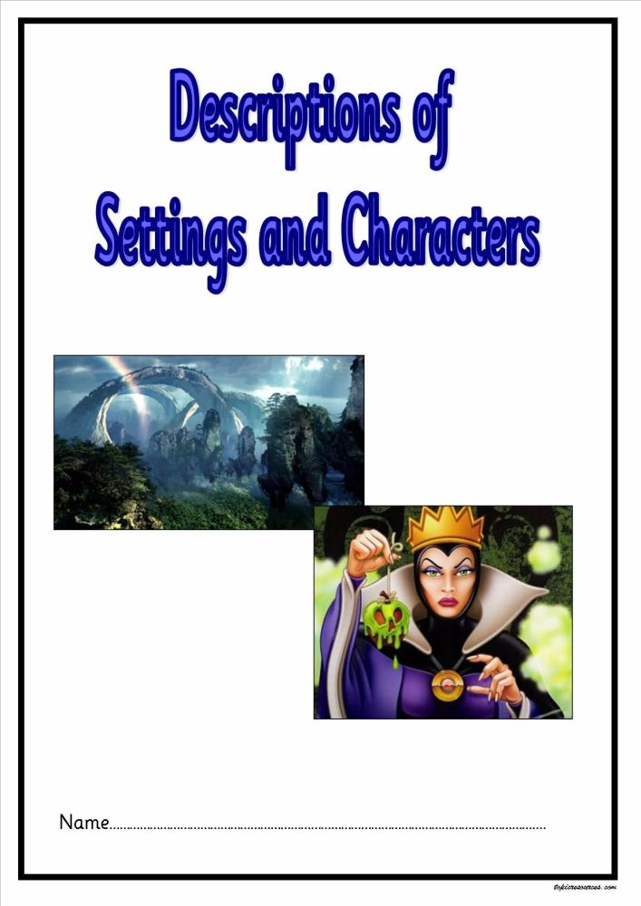 Settings and Characters Booklet