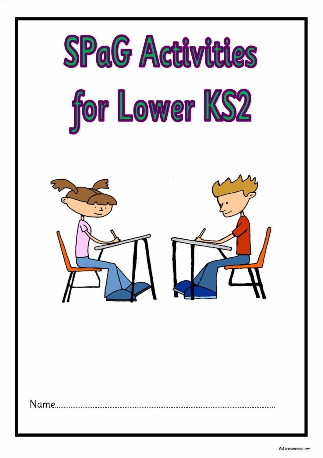 KS2 SPAG activity booklet.  A superb set of spelling, punctuation and gramm