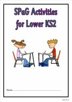Literacy Activities for Lower KS21a