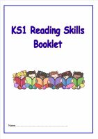 KS1 Reading Skills Booklet