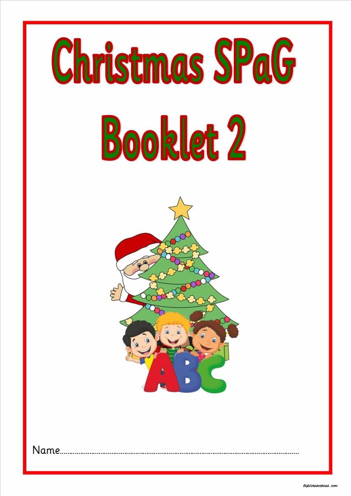 KS1 Christmas SPAG activity booklet 2. A fabulous set of spelling, punctuat