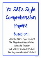 Y2 SATs-style comprehension papers based on traditional tales.