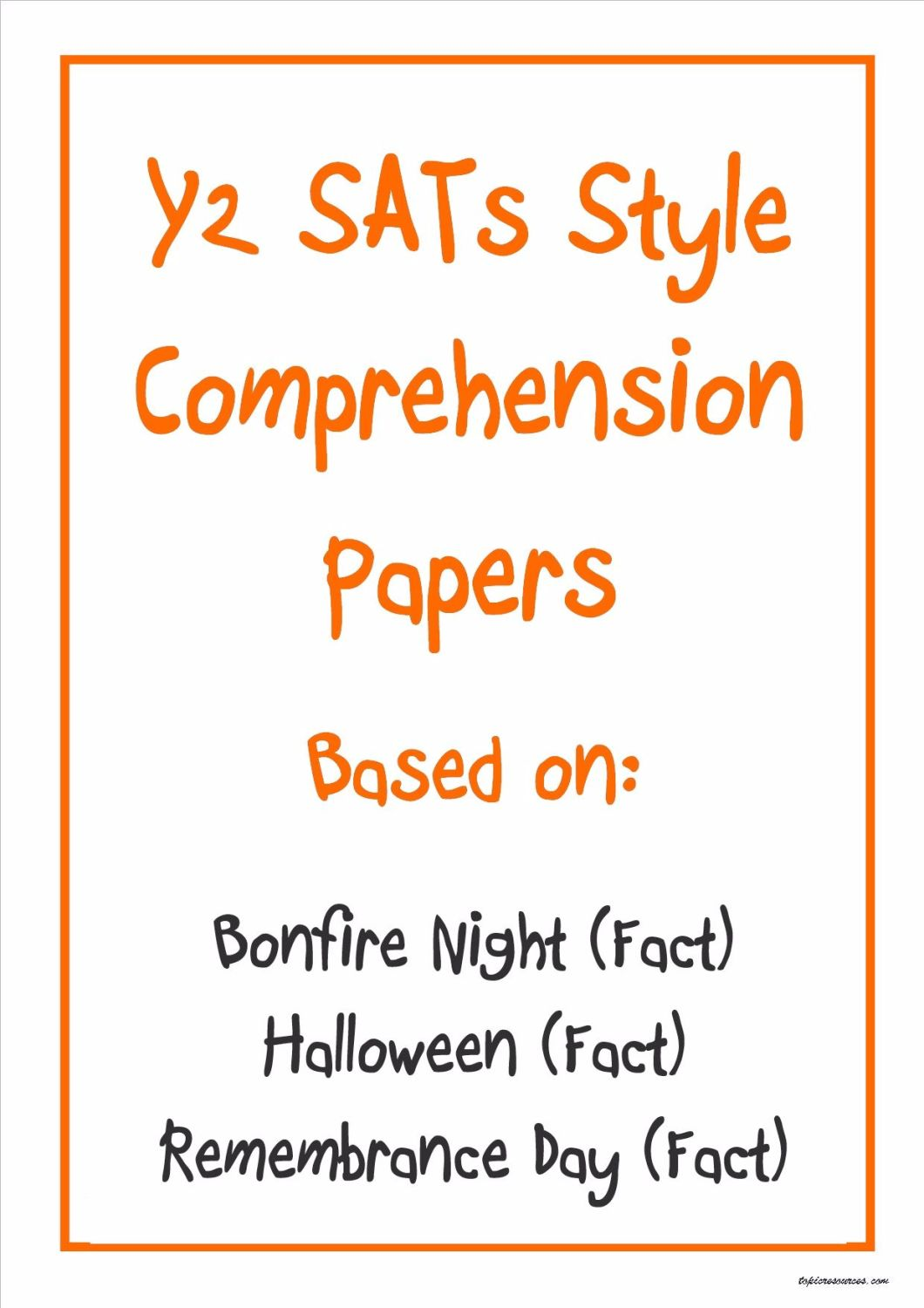 Non-fiction comprehension papers based on Bonfire Night, Halloween and Reme