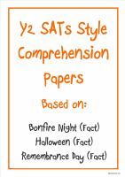 Non-fiction comprehension papers based on Bonfire Night, Halloween and Remembrance Day