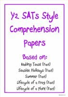 Non-fiction Y2 SATs-style comprehension papers (pack 2) based on popular KS1 topics