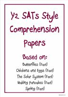 Non-fiction Y2 SATs-style comprehension papers based on popular KS1 topics