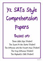 KS1 comprehension papers based on popular children's stories