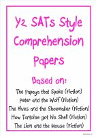 Y2 SATs-style comprehension papers based on well known stories.