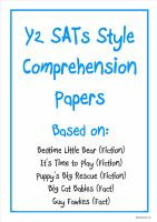 Y2 SATs-style comprehension papers based on three fiction and two non-fiction texts.