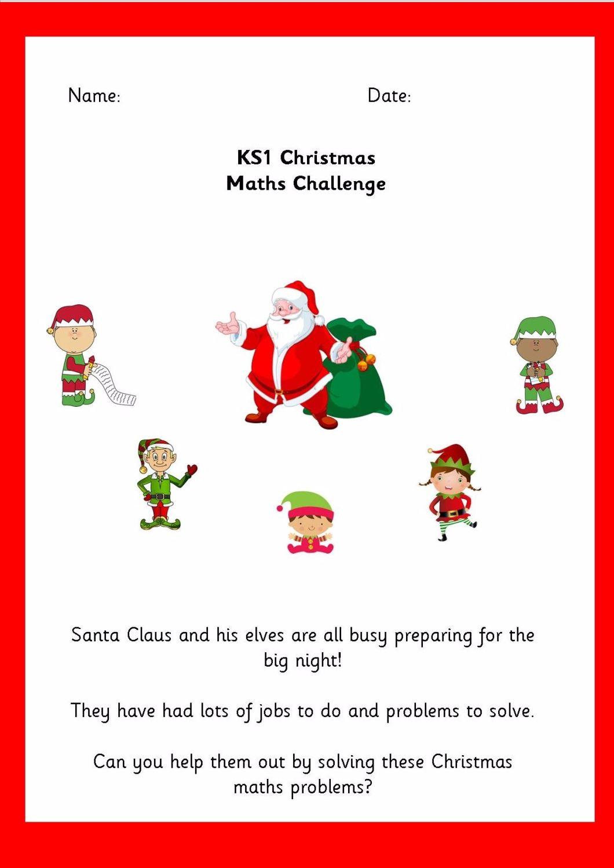 KS1 Christmas Maths Activity Booklet