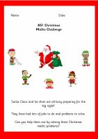 KS1 Christmas Maths Activity Booklet
