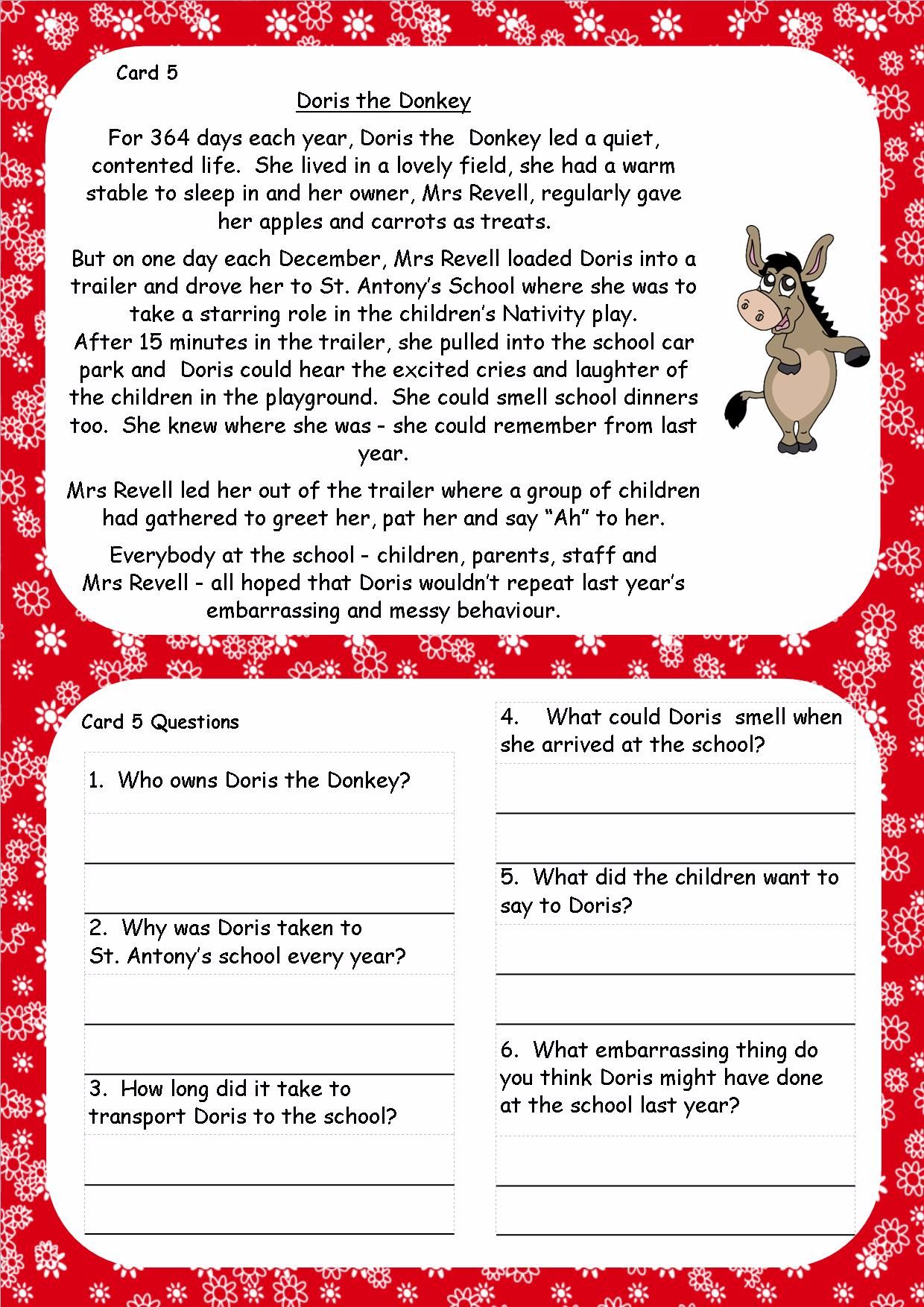 reading comprehension pdf year 6