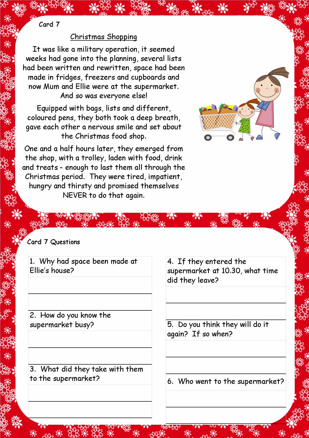 ks2 christmas reading comprehension cards7