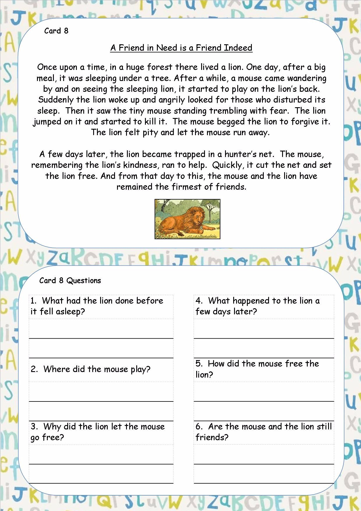 ks2 comprehensions exercises to lose weight