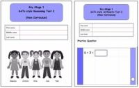 KS1, Year 2, SATs style Reasoning and Arithmetic Combined Pack 2 (New Curriculum)