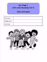 New! KS1, Year 2, SATs style Reasoning practice papers 3 (New Curriculum).