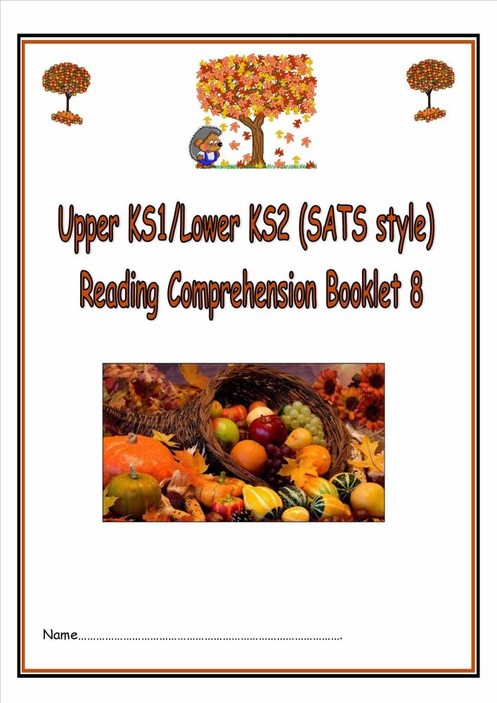 KS1/LKS2 SATs style (autumn themed) reading comprehension booklet (8).