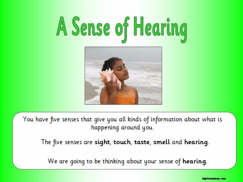 A Sense of Hearing Topic