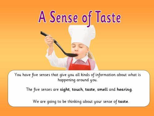 A Sense of Taste Topic