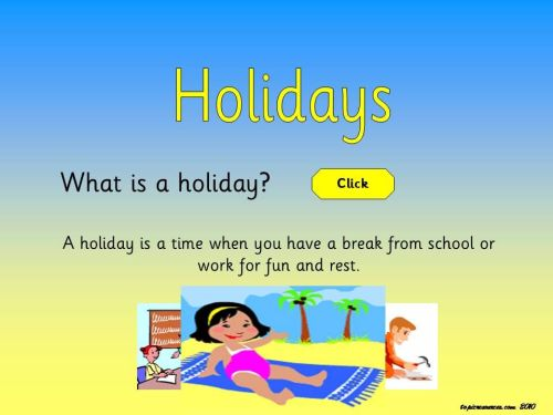 Holidays Topic
