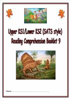 KS1/LKS2 SATs style reading comprehension booklet based on Dinosaurs (9).