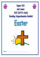 KS1/LKS2 SATs style reading comprehension booklet based on Easter.  Designed to address New Curriculum requirements.
