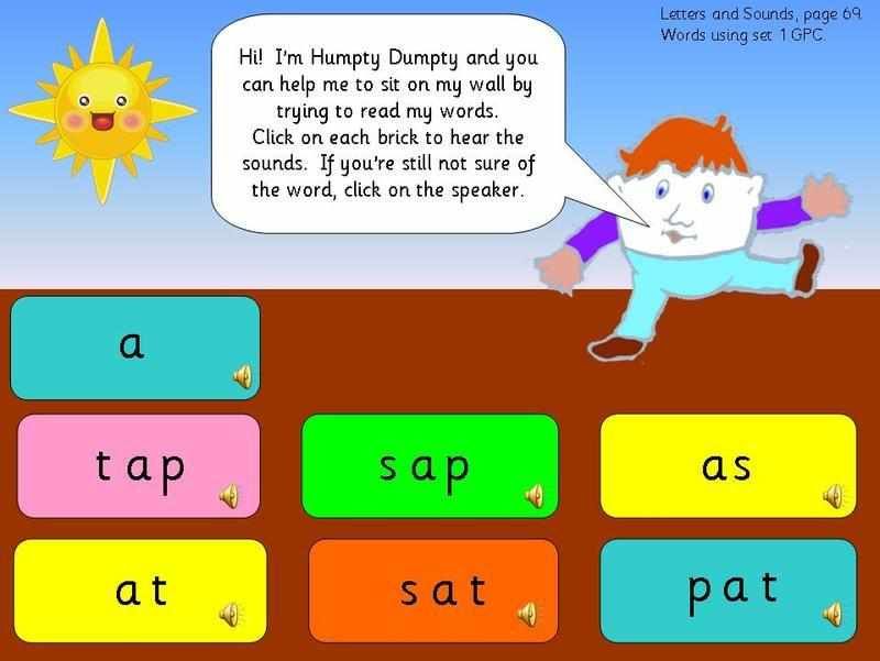 ... knowledge of Letters and Sounds phase 2 letter and word sets 1 and 2