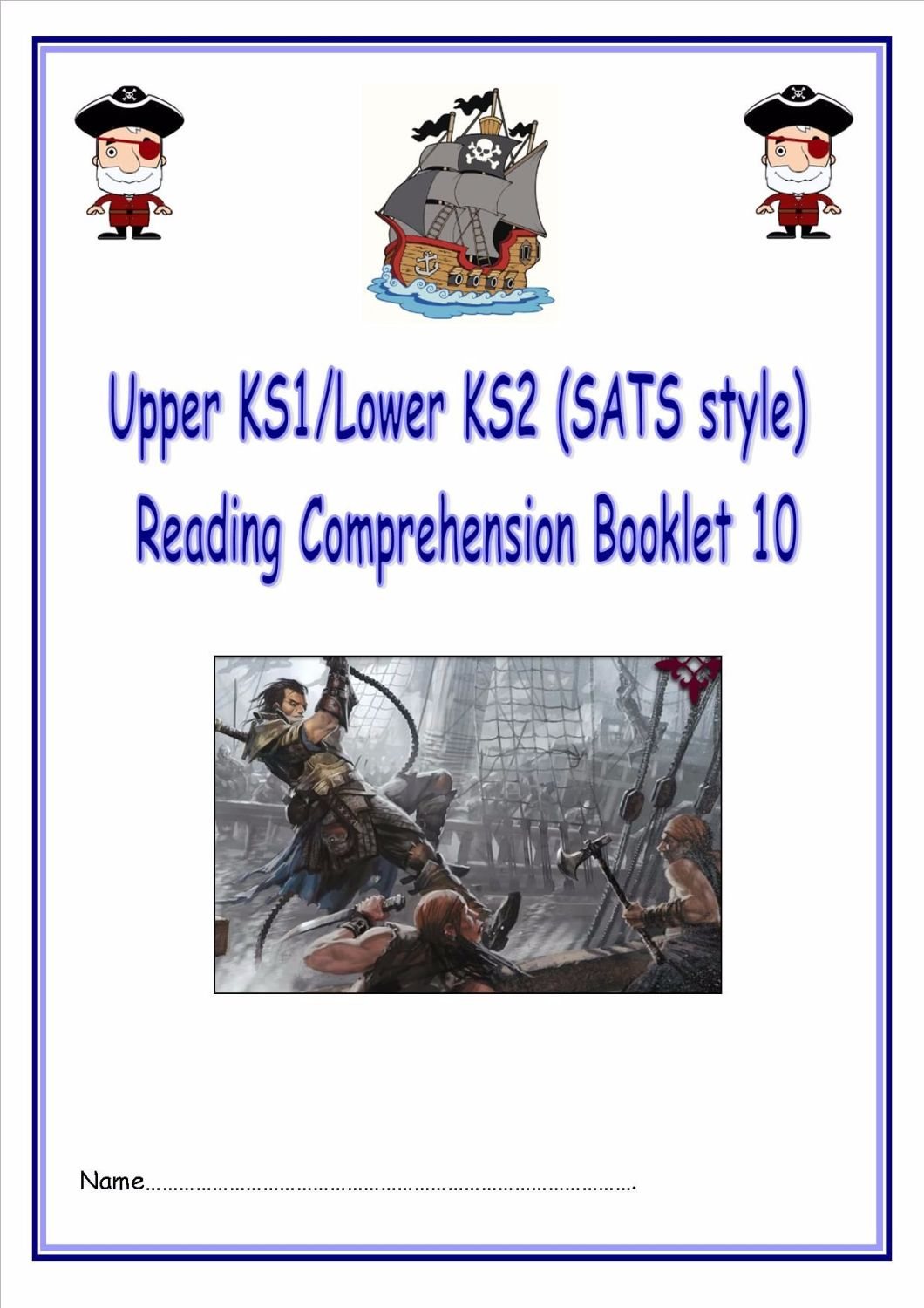 KS1/LKS2 SATs style reading comprehension booklet based on Easter.  Designe