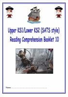 NEW! KS1/LKS2 SATs style reading comprehension booklet based on Pirates.  Designed to address New Curriculum requirements.