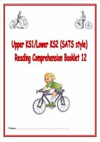 KS1/LKS2 SATs style reading comprehension booklet based on Bicycles.  Designed to address New Curriculum requirements.